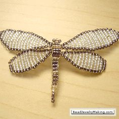 How to Make Dragonflies for Jewelry Tutorials - The Beading Gem's Journal -- nice for Christmas ornaments
