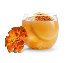 "Jaime Salas' ""Vuelva a la Vida"" Cocktail for the Day of the Dead Celebration in Chicago with our #EdibleFlowers Marigold! Marigold Flowers are a classic symbol of Day of the Dead!"