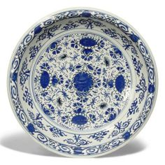 AN ENGLISH DELFT BLUE AND WHITE DISH -  CIRCA 1720, PERHAPS BRISTOL