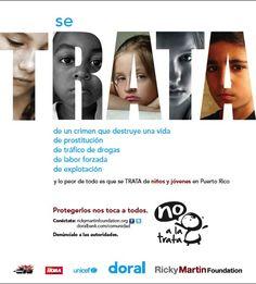 SE TRATA ... de apoyar y proteger a los niños.  rickymartinfoundation.org  #SETRATA #FOUNDATION #humantrafficking #kids #rmf