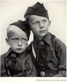 The Hitler Youth wanted all German boys to start VERY early. These two have their first official photo taken.