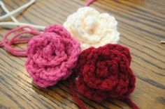 Simple Spring Rosettes | Crochet mom a bouquet that will be everlasting.  Easy and fast!