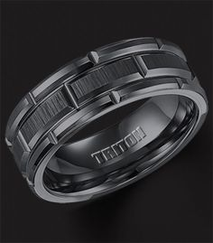 Mens Wedding Bands 8mm Tungsten Rings Black Brushed Step Edge Rose Gold Inner Big Day Ideas Pinterest Wedding Ring And Weddings