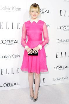 Emma Stone in Valentino, ELLE Women in Hollywood, 2012