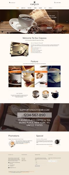 A Multipurpose #Coffee Style #Theme (#Restaurants & #Cafes)