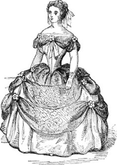Victorian Coloring Pages Of Womens Dress