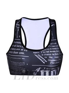Sports Bra - Selling Digital Alphabet No Rims Sports Bra Yoga Crop Top Ssb-0089