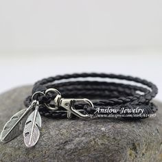 e31e5cb121ff3 MYLB0172 30% OFF Discount Fashion Jewelry Hot Sale Feather Bracelets  Bracelets For Women Gift Free Shipping 2017 New Arrival -in Wrap Bracelets  from Jewelry ...