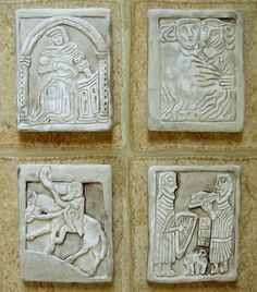 MEDIEVAL STORY TILES Set of Four by JolieFaire on Etsy, $44.00