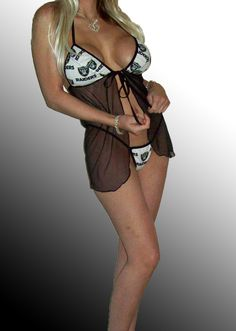 NFL Oakland Raiders Lingerie Negligee Babydoll Sexy by SexyCrushes, $36.00