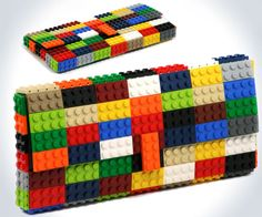 LEGO Purses https://www.etsy.com/shop/agabag/search?search_query=clutch ME = NEED THIS NOW