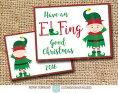 Funny, Printable Christmas Card. Simply download, print and send. Add your own personal message on the back. Click through for more instant cards, customizable cards, holiday decor and more. Or shop our 900+ designs for weddings, anniversaries, new babies, graduations, and more.