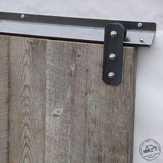 """RLP V-Track Sliding Door Hardware (Rectangular Design) Low Profile. Need 3"""" from Top of door."""