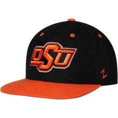 classic fit 5dfb2 215c8 Men s Zephyr Black Oklahoma State Cowboys Z11 Adjustable Snapback Hat