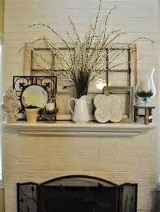 mantel decor – I like the window