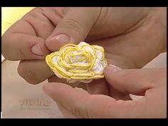 Flores Bordadas - Valéria Soares - Vitrine do Artesanato na TV - YouTube