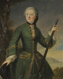Portrait of a Lady Dressed as an Hunter, 18th century, French school