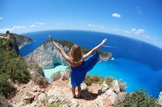 VISIT GREECE| Jessica Stein in Greece, Navagio, Zakynthos, June 13, 2013