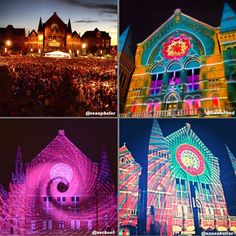 #LumenoCity - a light show & outdoor orchestra performance at Music Hall in Cincinnati!