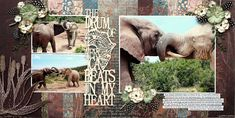 My Life.Perfectly Imperfect: The drum of Africa beats in my heart - Lady Pattern Paper (African Dream) Scrapbook Titles, Travel Scrapbook, Scrapbooking Layouts, Scrapbook Paper, African Drum, Stock Background, Big Photo, American Crafts, Crafty Craft
