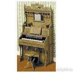 Dollhouse Miniature Pump Organ Kit #CHR2110