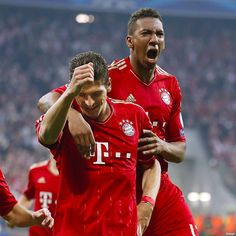 Mario Gomez and Boateng