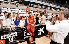 Con la Selección Española de Baloncesto, entrenada por mi amigo José Antonio Orenga