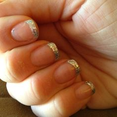 Got my nails did! Saw it on Pinterest. Sparkly love.