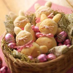 Easter Bunny Breads Recipe- with a chocolate egg surprise found inside.