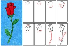 Art Projects for Kids: How to Draw a Rose