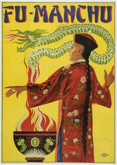Shop Bamberg ~ Fu Manchu Magician ~ Vintage Magic Act Poster created by fotoshoppe. Custom Posters, Vintage Posters, Retro Posters, Poster Ads, Vintage Images, Vintage Art, The Magicians, Dr Fu Manchu, Folies Bergeres