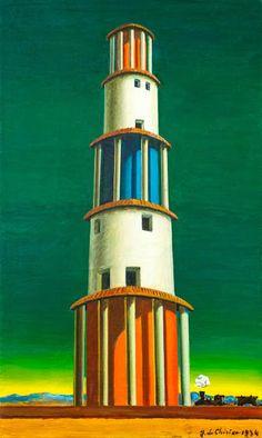 Giorgio de Chirico, La torre y el tren, 1934 Carmen Pinedo Herrero: La alegría habita las ciudades extrañas: Giorgio de Chirico