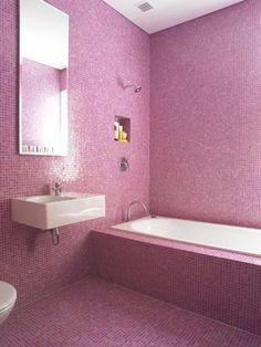 Pink bathroom by Australian architect  Scott Weston