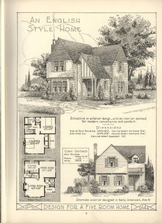 Simple English cottage floor plan
