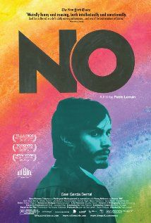 No. 2012. Gael Garcia Bernal. Fascinating story based on true events ` An ad executive comes up with a campaign to defeat Augusto Pinochet in Chile's 1988 referendum. An insightful look at messaging in campaigns and the mindset of voters regardless of where they are.