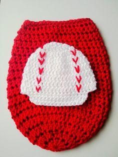 Crochet Baseball Newsboy Hat & Cocoon Set - Photography Prop, $35 at The Hook Nook