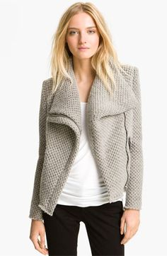 IRO Draped Collar Knit Jacket available at Nordstrom – I sure as hell can't afford it, so I'm gonna crochet the hell out of this.