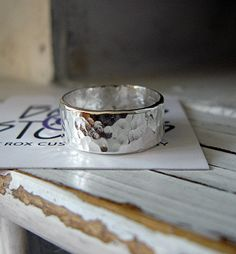 Mens Hammered Silver Wedding Band by HotRoxCustomJewelry on Etsy, $48.00