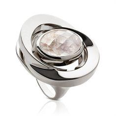 LA DIOSA. Honey-Moon Ring RAINBOW MOONSTONE #jewellery