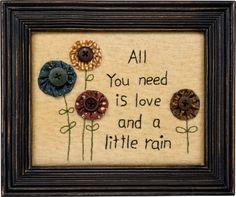 Item # 30182 | Stitchery - A Little Rain | Primitives by Kathy