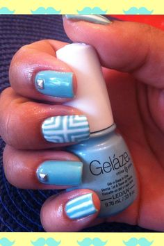 Gel design using Gelaze Gel Polish in For Audrey and Sensational color in White Lilly.