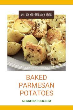 Baked quartered baby potatoes, topped with shredded parmesan cheese perfect side dish for dinner! #potatoes #cheese #dinner #sidedish #recipe Parmesan Potatoes, Baby Potatoes, Easy Weeknight Meals, Easy Dinners, Quick Easy Dinner, Healthy Vegetables, Dinner Dishes, Vegetable Side Dishes, Kid Friendly Meals