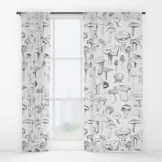 The mushroom gang Window Curtains