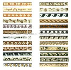 stone decoration water jet marble border