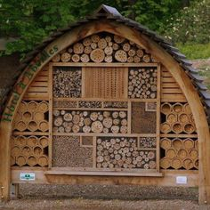 Absolutely amazing native bee and beneficial insect shelter in France.