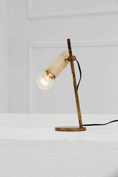Tito Agnoli; Brass Table Lamp for O-Luce, 1950s.