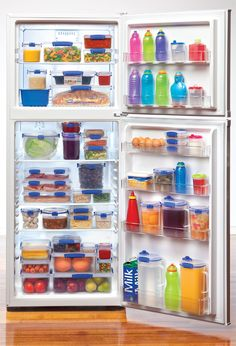 Love how this picture shows how easy Sistema's Kilp-It food storage makes it to stay organized! Everything's stacked nicely and neatly set! Freezer Organization, Bedroom Organization Diy, Kitchen Organization, Organizing Ideas, Organization Station, Organising, Sistema Containers, Kitchen Containers, Food Storage Containers