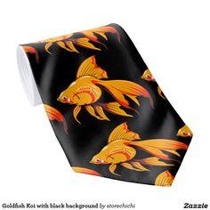 Goldfish Koi with black background
