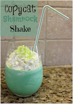Love McDonald's Shamrock Shake?  Make this one at home anytime you want it!!
