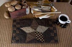 Farmhouse Star Quilted Placemat - Set of 2 – Primitive Star Quilt Shop
